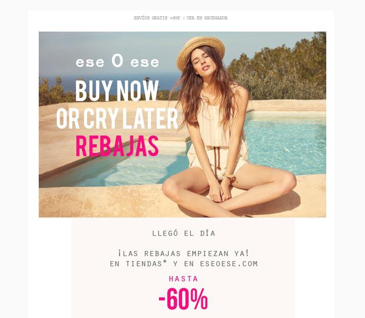 Campaña de rebajas tienda online