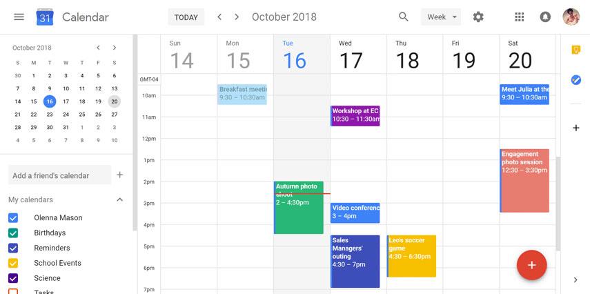 Aplicación para programar reuniones con empresas