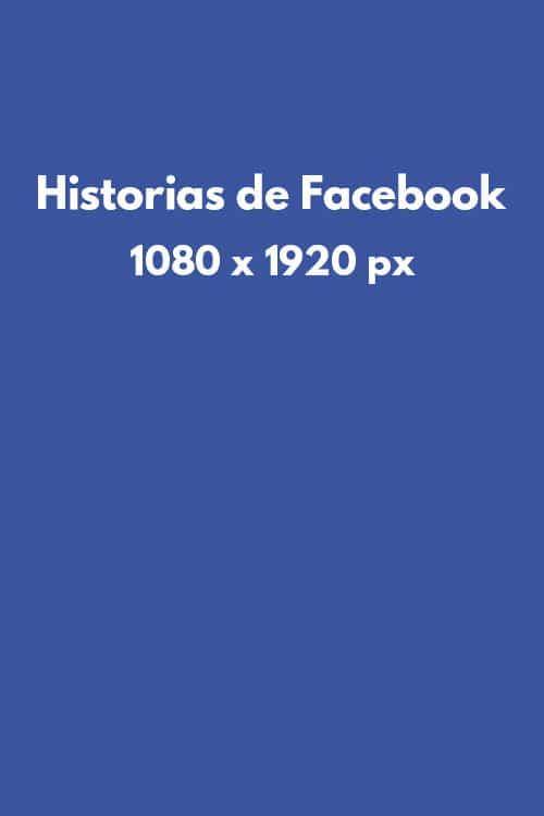 Tamaño de imágenes en redes sociales: historias en Facebook