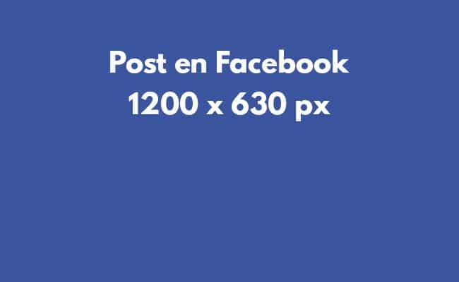 Tamaño de imágenes en redes sociales: imágenes en Facebook