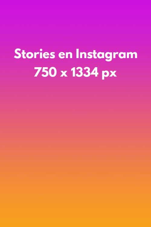 Tamaño de las historias en instagram