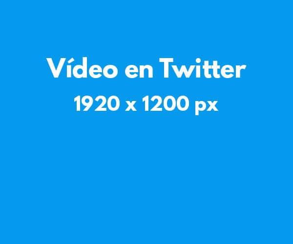 Tamaño de imágenes en redes sociales: Vídeo en Twitter