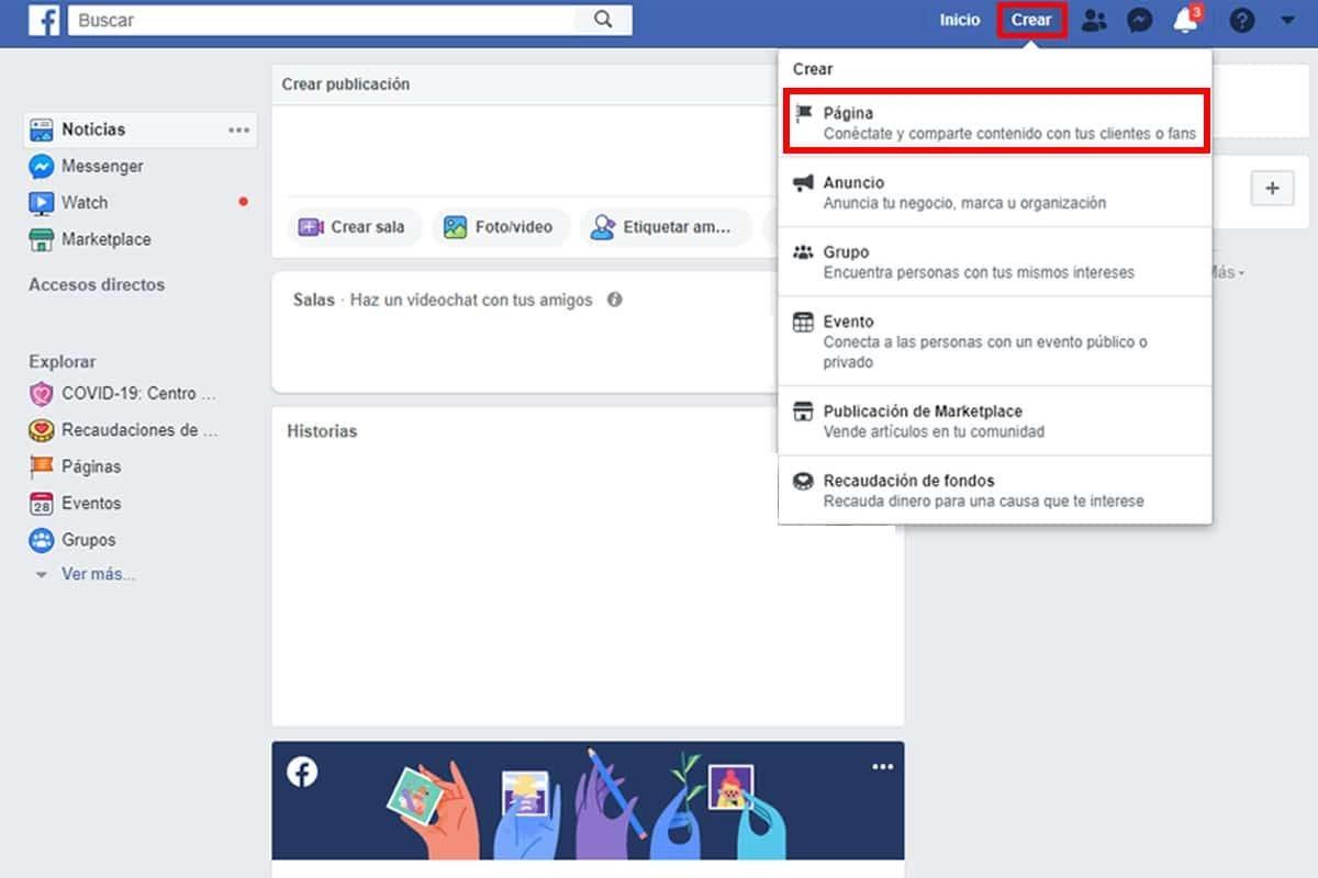 Como crear una pagina para empresas en Facebook paso a paso